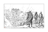 Avengers Assemble Pencils Featuring Thor, Black Widow, Hawkeye Stampe