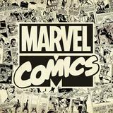 Marvel Comics Retro Pattern Design Featuring Marvel Comics (Retro) Poster