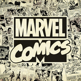Marvel Comics Retro Pattern Design Featuring Marvel Comics (Retro) Poster