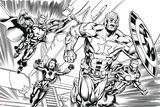 Avengers Assemble Inks Featuring Iron Man, Captain America, Thor, Black Widow Prints