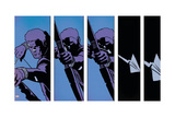 Avengers Assemble Panel Featuring Hawkeye Stampa