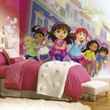 Dora And Friends XL Chair Rail Prepasted Mural Wallpaper Mural