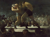 Club Night Giclée-tryk af George Wesley Bellows