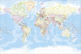 Mapa-múndi Impressão giclée por  The Vintage Collection