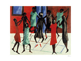 Children at Play, 1947 Reproduction procédé giclée par Jacob Lawrence