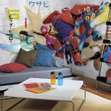 Big Hero 6 XL Chair Rail Prepasted Mural Wallpaper Mural