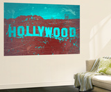 Hollywood Sign Wall Mural by  NaxArt