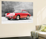 1964 Porsche 911 Watercolor Wall Mural