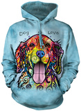 Hoodie: Dog Is Love Hettegenser