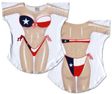 Texas Flag Bikini Cover-Up T-Shirt