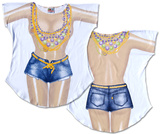 Mardi Gras Girl Cover-Up T-shirts