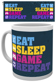 Gaming Eat Sleep Mug Taza