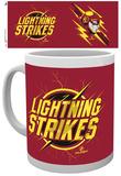 The Flash Lightning Strikes Mug Taza