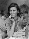 Destitute Pea Pickers in California, Mother of Seven Children, Nipomo, California, 1936 Fotografisk tryk af Dorothea Lange