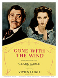 Gone With The Wind Motion Picture - Starring Clark Gable, Vivian Leigh Plakater
