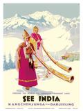 See India - Kangchenjunga near Darjeeling Poster