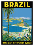 Brazil - Rio de Janeiro - Brazilian Information Bureau Kunst von Waldomiro Gonçalves Christino