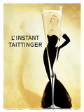 L'Instant Taittinger (The Taittinger Moment) - Champagne Advertisement - Grace Kelly Prints by Claude Taittinger