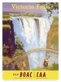 Victoria Falls, Zimbabwe - Fly BOAC (British Overseas Airways Corporation) 高画質プリント : フランク・ウートン