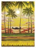 Hawaii - Fly Hawaiian Air - Hawaiian Airlines ポスター