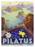 Mount Pilatus - Schweiz Switzerland Suisse - Lake Oberalp Print by Otto Landolt