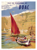 Fly to Portugal - by BOAC (British Overseas Airways Corporation) Posters by Frank Wooton