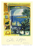 Cote d'Azur - Picasso's Studio Pigeons Velazquez Poster por Pablo Picasso