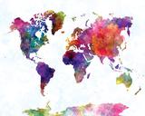 World Map II Watercolor Art