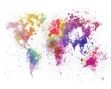 World Map I Watercolor Posters