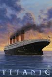 Titanic Scene - White Star Line Plastikschild von  Lantern Press