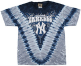 Youth: MLB- YankeesThrowback V-Dye Tシャツ