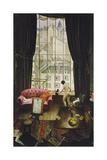 A Studio in Montparnasse Gicléetryck av Christopher Richard Wynne Nevinson