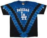 Youth: MLB- DodgersThrowback V-Dye Tシャツ