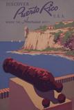 Puerto Rico, USA - Travel Promotional Poster Plastikschild von  Lantern Press