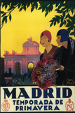 Madrid, Spain - Madrid in Springtime Travel Promotional Poster Plastikschild von  Lantern Press