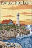 Portland Head Light - Portland, Maine Plastikschild von  Lantern Press