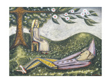 The Sleeping Fool Giclée-vedos tekijänä Cecil Collins