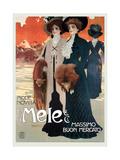 Women in High Fashion Shop at Mele Kunstdrucke von Leopoldo Metlicovitz