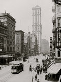 Broadway and Times Building (One Times Square), New York City Foto