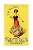 Cigarette Papers by Victorson Brought by an Exotic Dancer with Castanets Posters