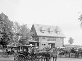Club House at the Race Track, Saratoga Springs, N.Y. Fotografía