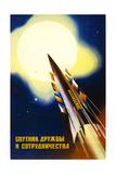 Sputnik of Friendship and Cooperation Kunstdrucke