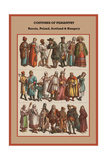Costumes of Peasantry Russia, Poland, Scotland and Hungary Print by Friedrich Hottenroth