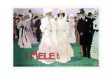 Mele Fashion for the Wealthy at the Races Kunstdrucke von Leopoldo Metlicovitz