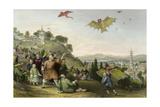 Kite Flying Poster von Thomas Allom