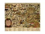 Vauban Defenses on the Narva, Estonia - 1700 Print by Anna Beeck
