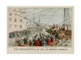 Destruction of Tea in Boston Harbor Kunstdrucke von  Sarony & Major