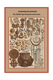 Scandinavian Jewelry the Middle Age Viking Accoutrements Prints by Friedrich Hottenroth