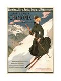 Sports D'Hiver Chamonix Plakater af Abel Faivre