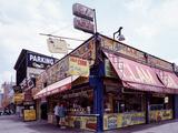 Coney Island Clams, Dogs, Heroes and Shish Kabob Foto von Carol Highsmith